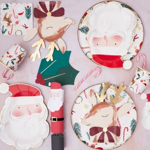Decoración navideña en tu mesa