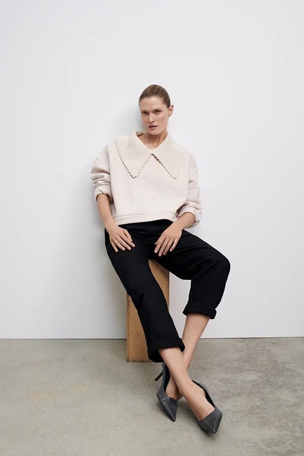 Tendencias de moda 2021: cuello bobo