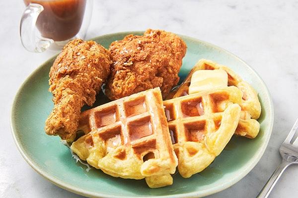 Día Internacional del gofre: chicken and waffles