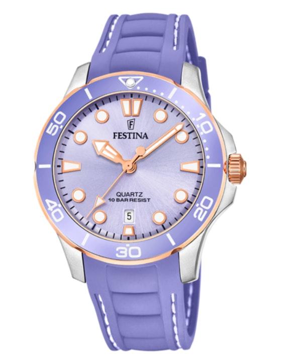 Reloj violeta Festina de TimeRoad