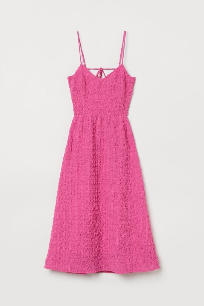 Vestido rosa de H&M