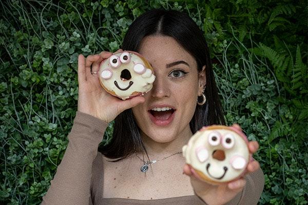 Donut animado de Loops & Coffee GranCasa