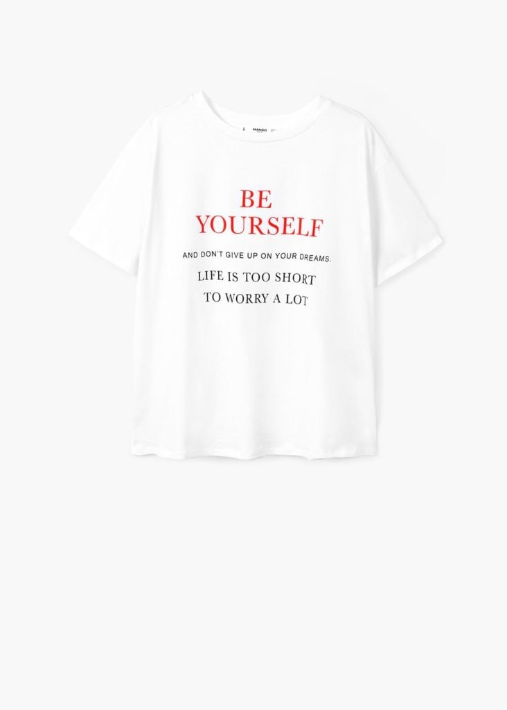 Mango, T-shirt be yourself, 9,99€