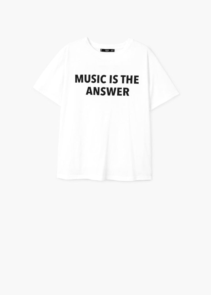 Mango, T-shirt music, 9,99€