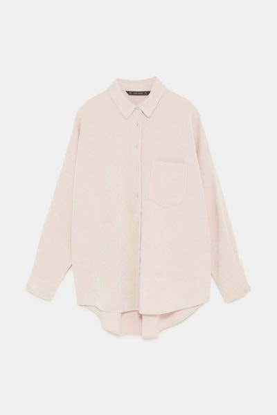 Camisa fina oversized, Zara, 19,95€