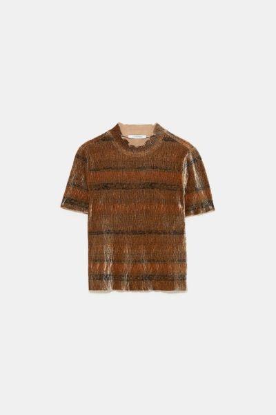 T-shirt com textura, Zara, 12,95€