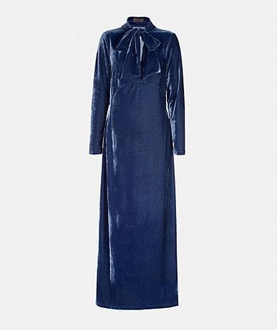 Vestido comprido de veludo, Lanidor, 179,90€