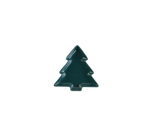 Salpico de cor | Se optar por uma mesa em tons neutros, corte a monotonia com o verde natalício, que sempre é mais inesperado que o vermelho e que traz um tom da Natureza à ocasião. | Prato Continente Kasa, 3,50€