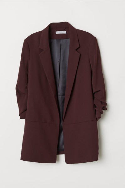 Blazer com mangas franzidas, H&M, 39,99€