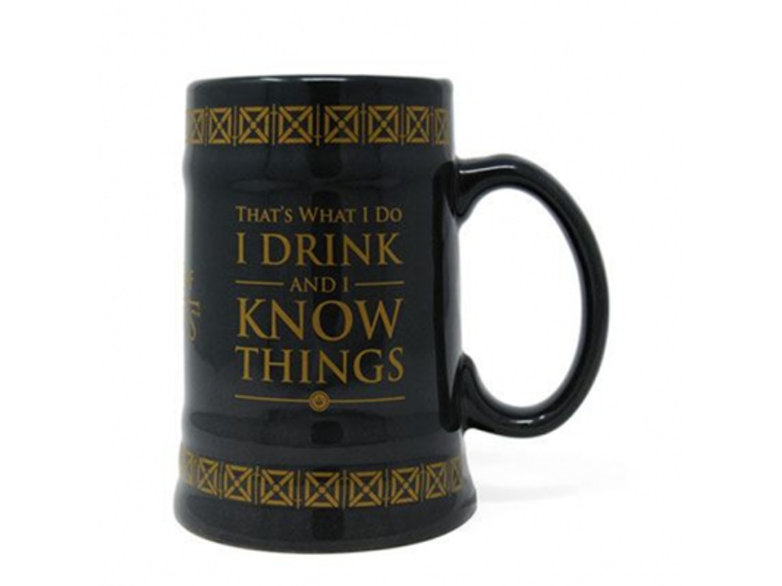 Caneca de Cerveja Game of Thrones Drink and Know Things, Worten, 25,99€