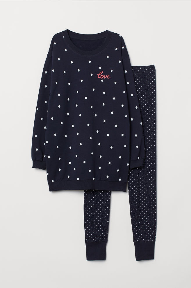 Pijama de Camisola e Leggings, H&M, 19,99€