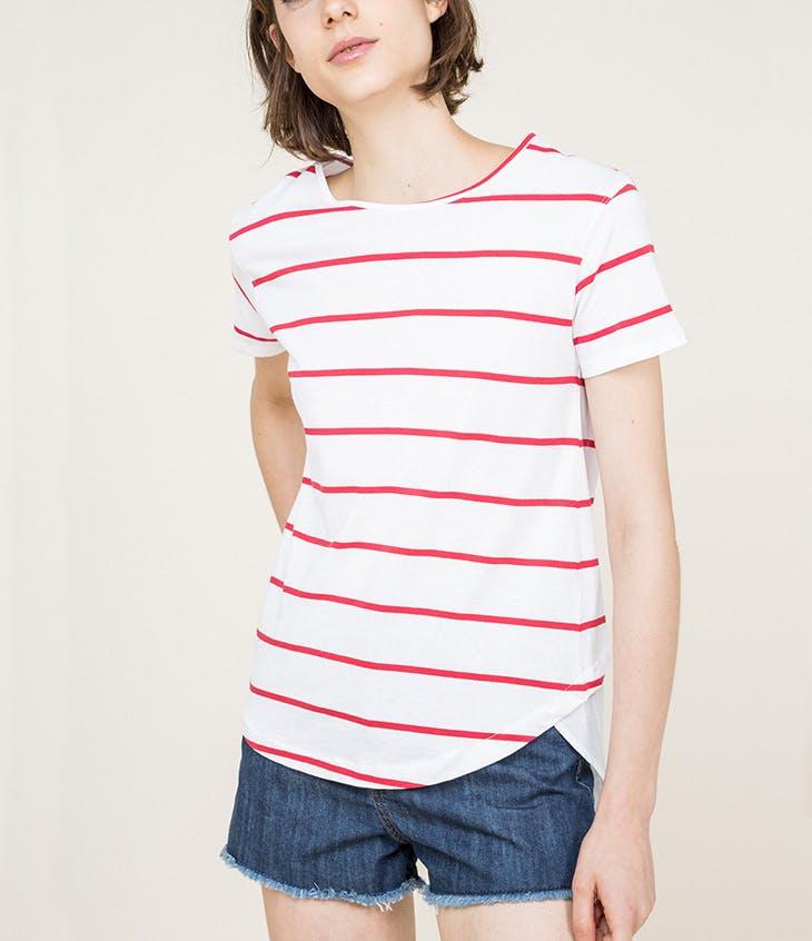 cómo combinar tu camiseta a rayas marineras