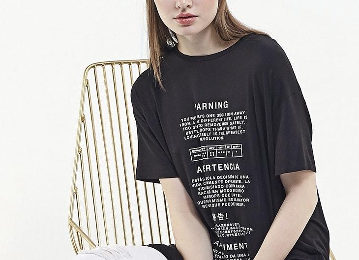 Camisetas largas o vestido