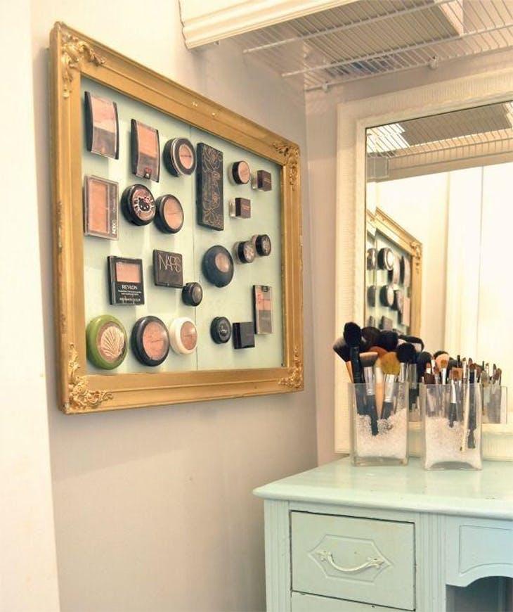 tu propio organizador de maquillaje