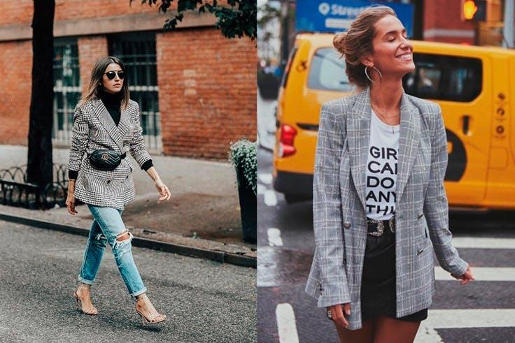 Americanas oversize en el street style de Nueva York