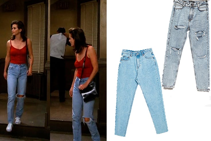 Tendencia en jeans de Friends