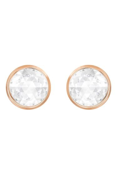 Swarovski-Hote-Front-Back-Pierced-Earrings-Black-Rose-gold-plating-5301474-W600