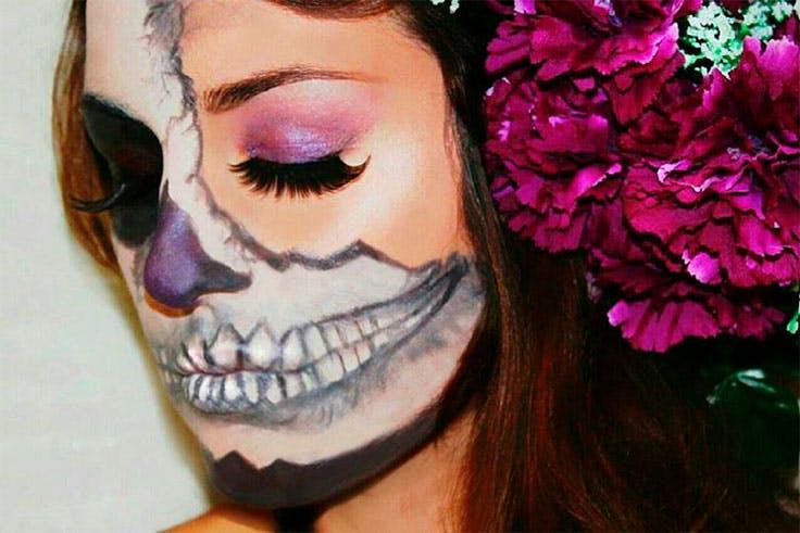 Halloween, maquillaje, terrorífico