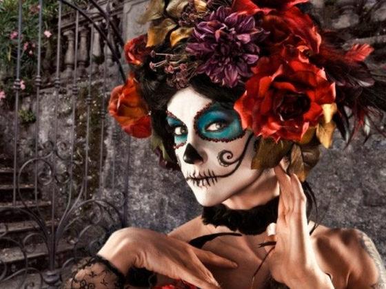 maquillaje de halloween catrina
