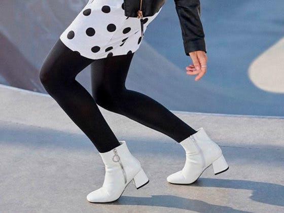 calzado botines blancos