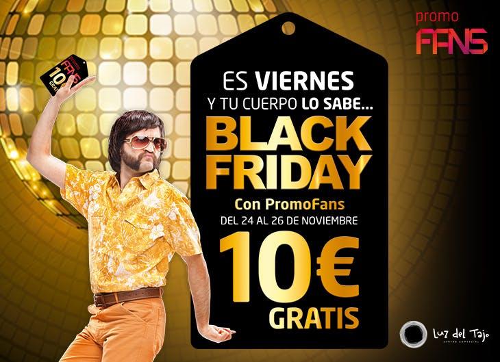 Promoción de cupones de 10 euros gratis por el Black Friday en Luz del Tajo