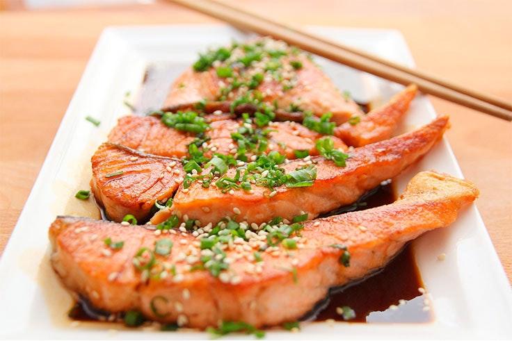 salmón comida healthy