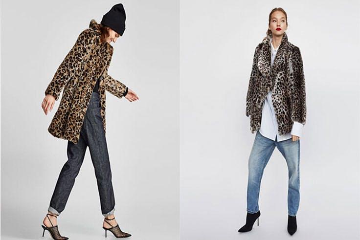animal print abrigo