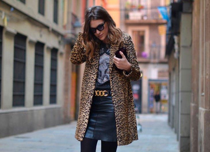 460b8a0cb56a6 Cómo combinar tu abrigo  animal print  para un look perfecto  - Luz ...