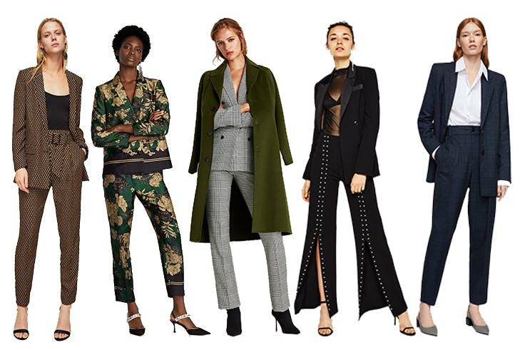 Blazers y pantalones de traje para cenas de empresa