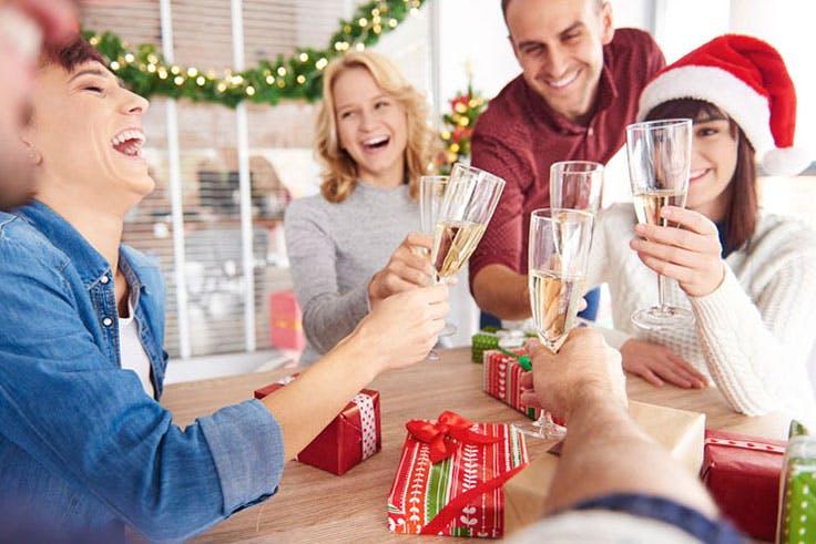 brindis champán Navidad Nochevieja