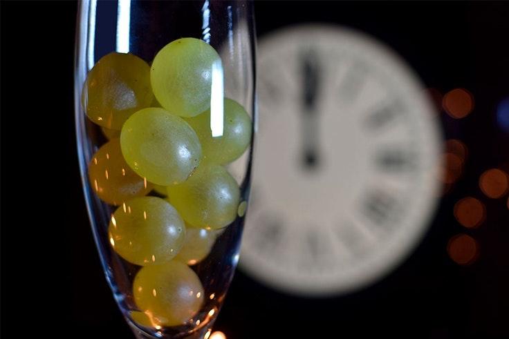 Las 12 uvas para las campanadas
