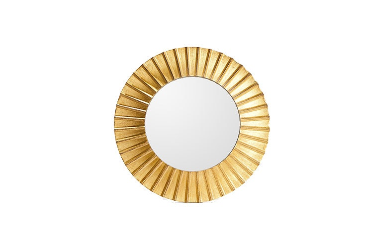 decoración en dorado espejo