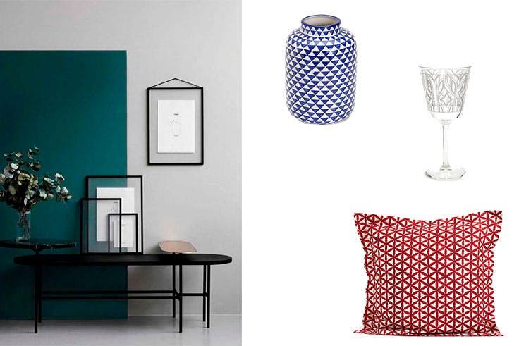 Elementos geométricos de decoración de la tienda Zara Home