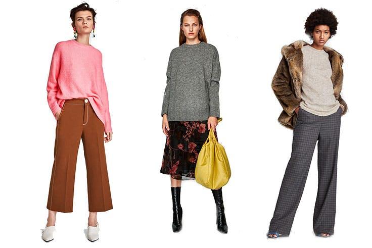 Estilismos de la tienda Zara con jerséis oversize