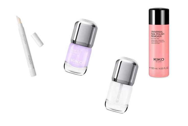 Productos para el cuidado de uñas de la tienda Kiko