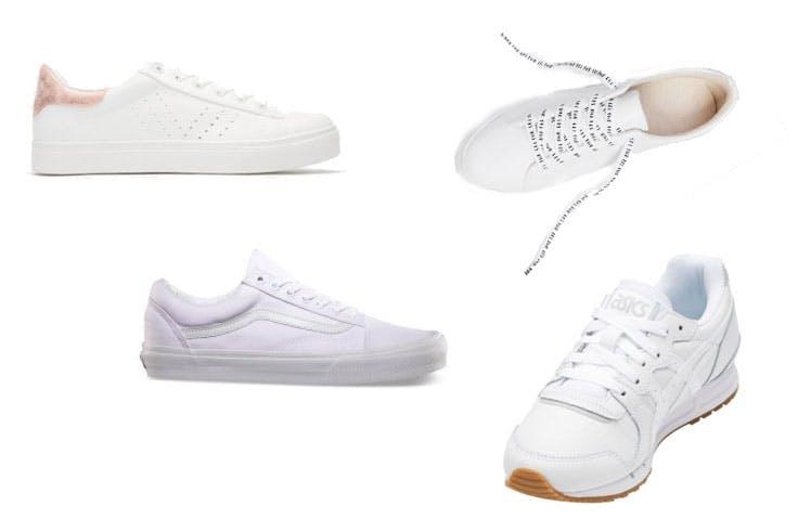 Tendencia de zapatillas blancas