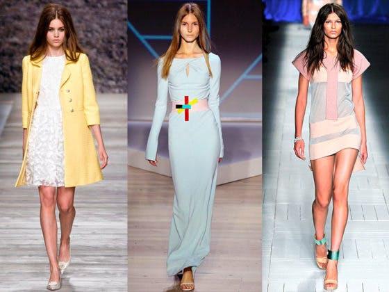 desfiles de moda con prendas en colores pastel
