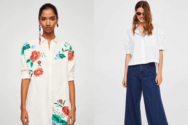 Camisa blanca mujer Mango