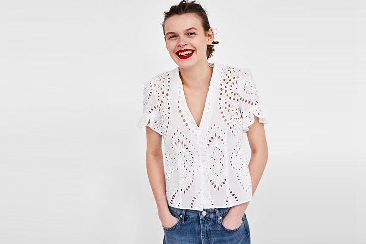 camisa blanca mujer Zara