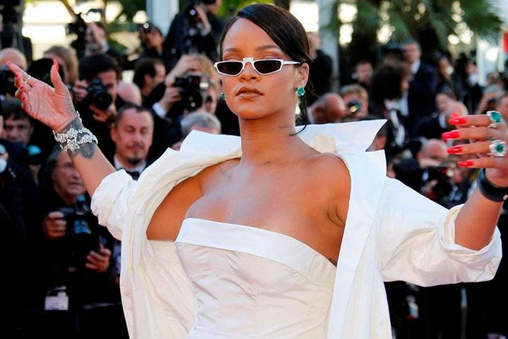 Rihanna en el Festival de Cannes 2017 marcando la tendencia desde antes