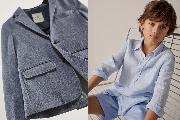Americana 59,95€ / Camisa de lino 29,95€ y bermuda de algodón 29,95€ de Massimo Dutti.