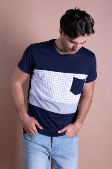 camiseta azul celop