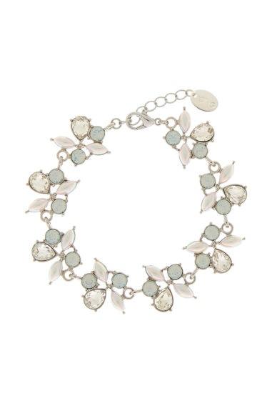 pulsera cristales perlas