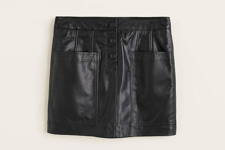 falda-cuero-negra-mango