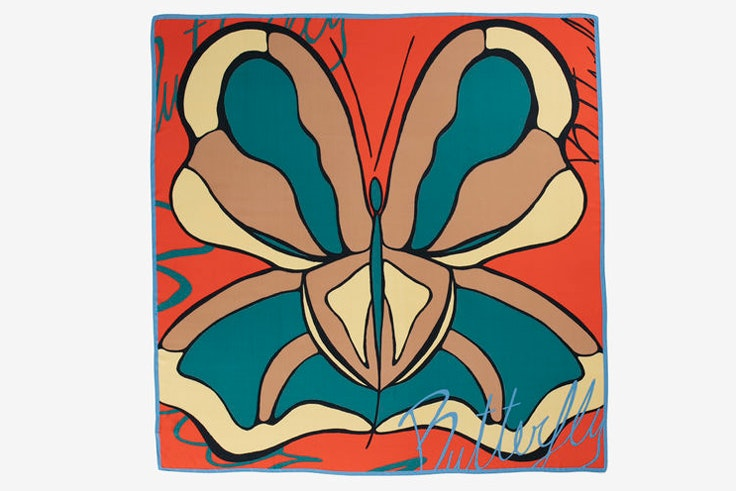 panuelo-estampado-mariposa-naranja-parfois