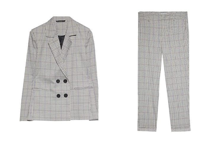 traje de chaqueta de cuadros stradivarius