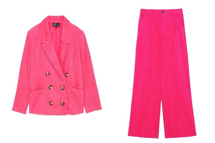 trajes de chaqueta de pana zara