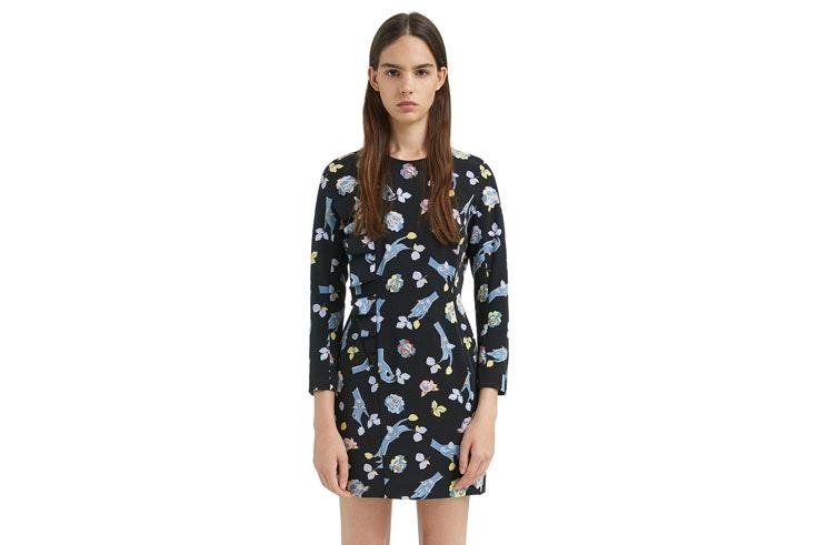 vestido-negro-con-flores-corto-bimbaylola
