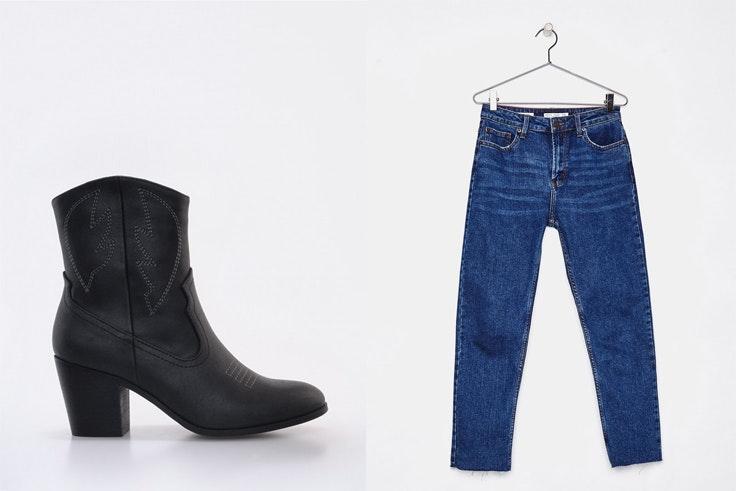 botas-negras-cowboy-marypaz-pantalon-vaquero-azul-oscuro-bershka