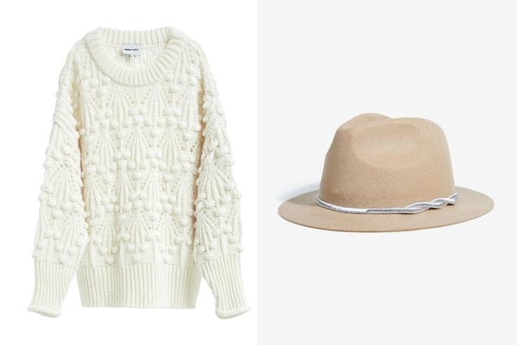 botas-serpiente-jersey-blanco-borlas-bimba-y-lola-sombrero-beige-parfois